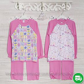 Детские пижамы для девочек 5,6_7_лет, 2207инк,  хлопок-интерлок, в наличии 116,122,128 Рост , фото 2