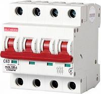 Модульный автоматический выключатель E.NEXT e.industrial.mcb. - 4 р, 63А, C, 10кА