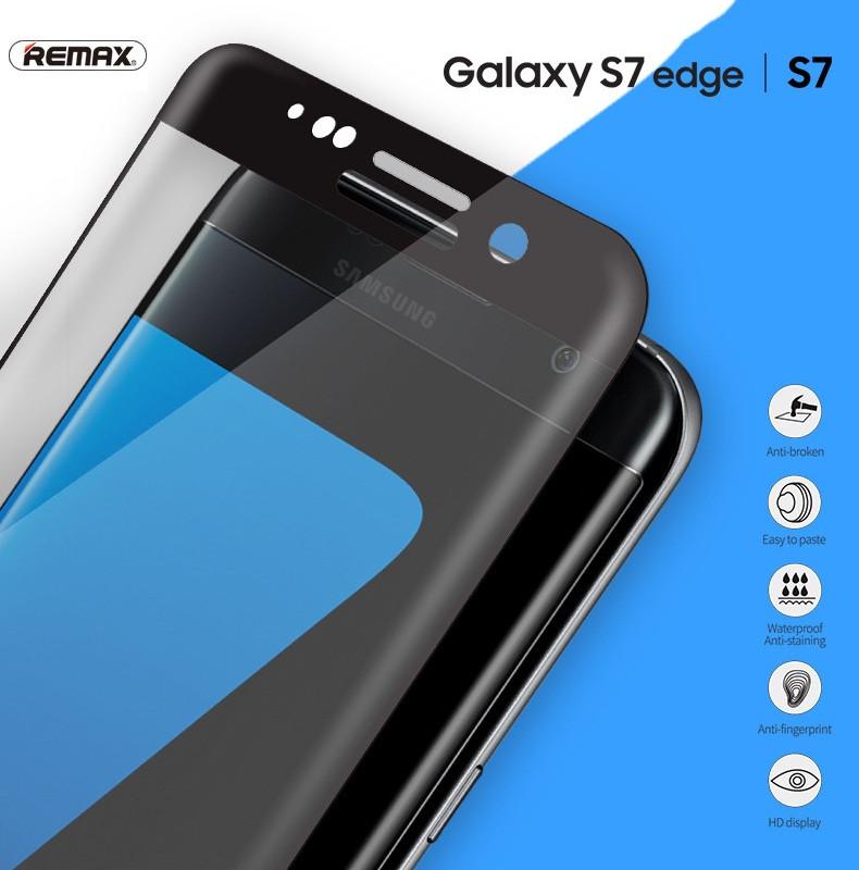 Защитное стекло Remax 3D для Samsung Galaxy S7 Edge G935 закругленные края
