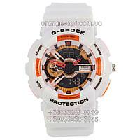 Часы Casio  G-Shock GA 110 Glossy white/orange