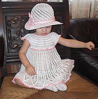 """Комплект для дівчинки """"Ніжність"""", плетений гачком, handmade"""