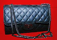 Клатч женский Chanel Le Boy (Шанель Бой), стеганный черный
