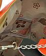 Женская сумка из экокожи 7240-21 черный с оранжевым, фото 4