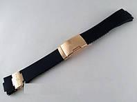 Ремешок к часам Ulysse Nardin черный, застежка цвета золото