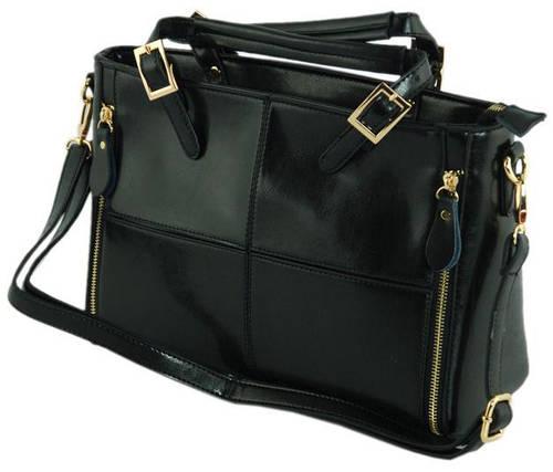 Стильная женская сумка из искусственной кожи 7316-00 черный