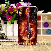 Силиконовый чехол бампер для Huawei Y6 II с рисунком Гитара