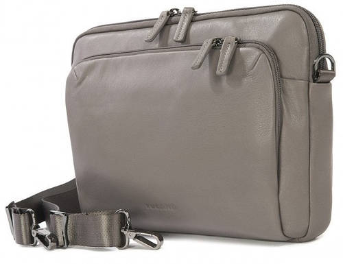 "Эффектная женская сумка для гаджетов до 15"" Tucano One Premium Slim case Atelier (Grey) BFOMP15-G серый"