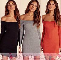Обтягивающее платье до колен(цвета)