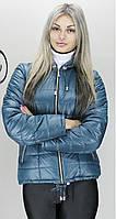 Женская батальная куртка КР-2 бирюзовая 42-74 размеры