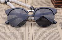 Женские круглые очки кошачий глаз