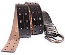 Мужской ремень из натуральной кожи под джинсы 301120 черный, фото 5