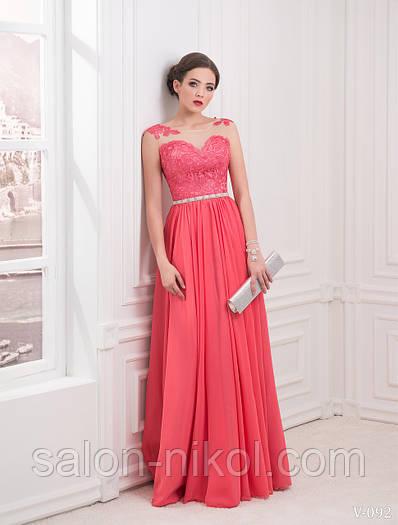Вечернее, выпускное платье V-092