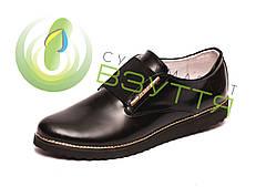 Кожаные туфли черные