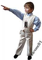 """Классический костюм мальчику (жилетка + брючки) """"54"""" (св.беж), 42 р, 410/380 (цена за 1 шт. + 30 гр.)"""