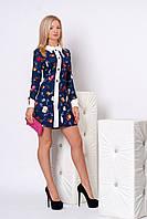 Женское платье 948 (т.синий в принт сумочки)