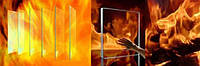 Стекло огнестойкое для каминов и печей Robax/Скло вогнестійке