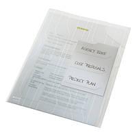 Папка-уголок Leitz Combifile, 3 секции, прозрачный, упак.3 шт.