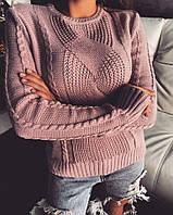 Теплый женский свитер до-903