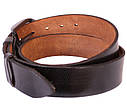 Мужской ремень из натуральной кожи под джинсы 301122 черный, фото 5