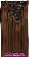 Волосы для наращивания на клипсах набор из 7-ми прядей