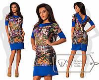 Платье из дайвинга с молнией на спине. Все размеры.  Разные цвета.