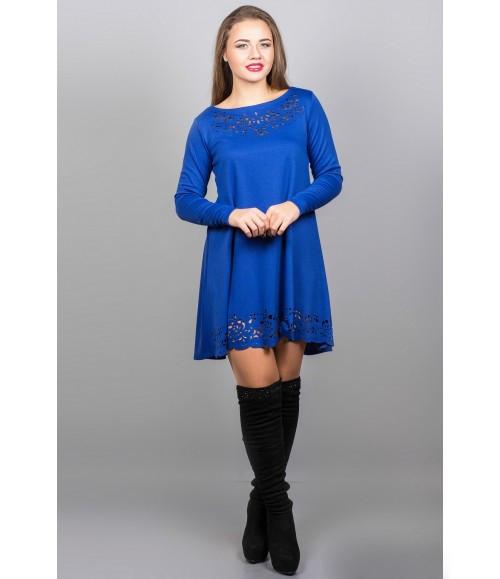 Женское платья Лучия цвет электрик размер 46-52