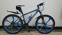 Велосипед Audi на литых дисках Сине-серебристый
