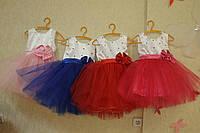 Пышное нарядное платье на девочку с бусинками и стразами