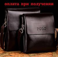 Сумка мужская кожаная бренд POLO Поло (маленькая), фото 1