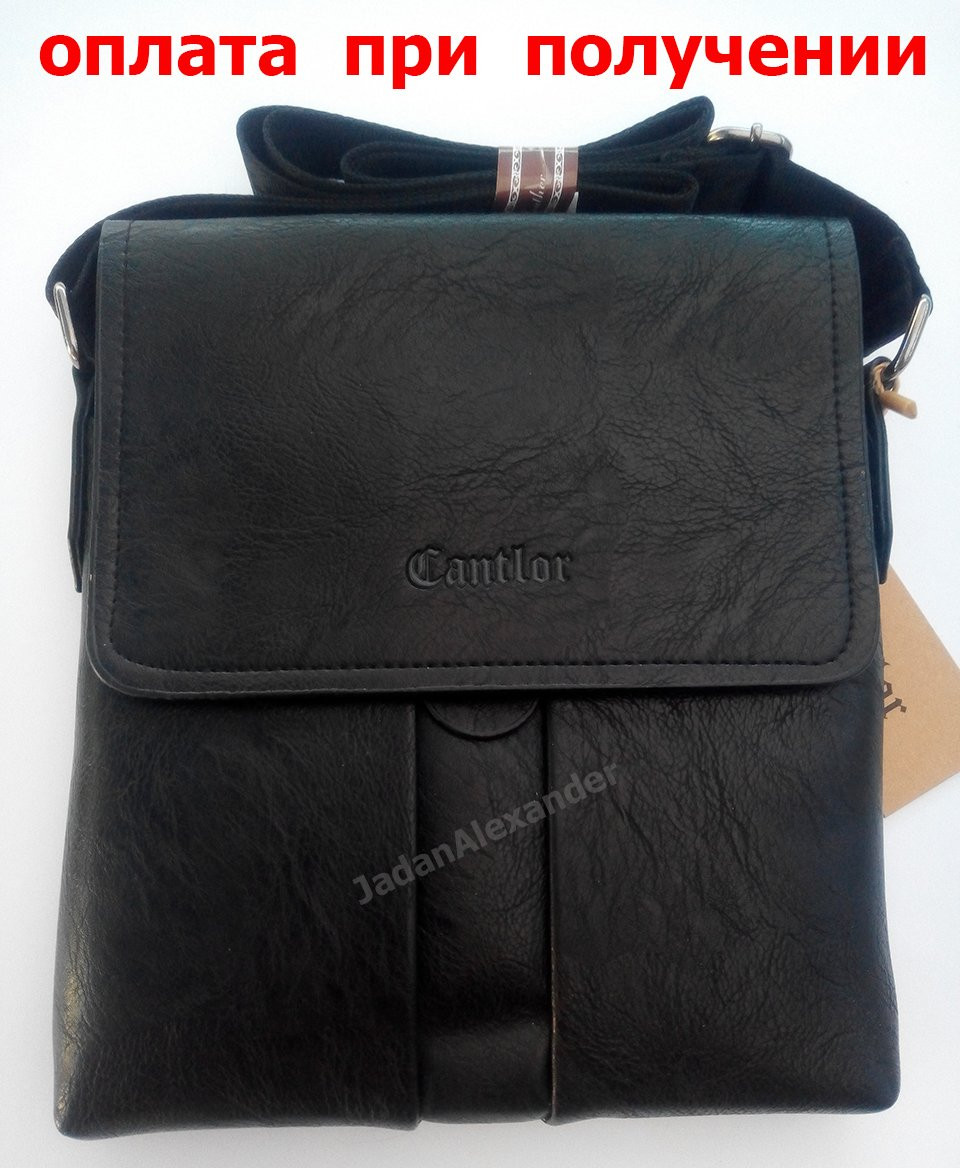 Чоловіча шкіряна сумка бренд Cantlor (1606) New!!!