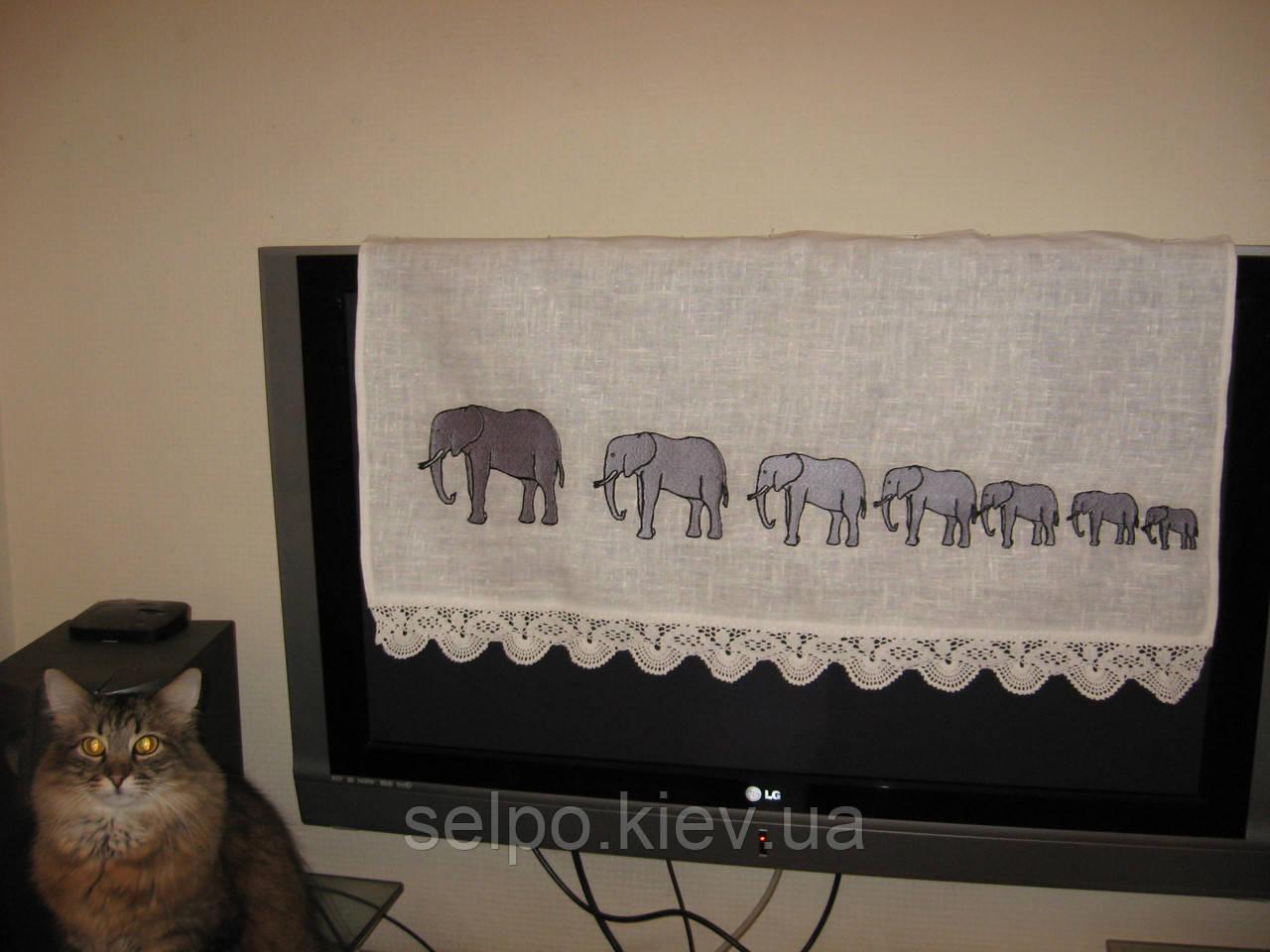 Вышивка крестом 7 слоников