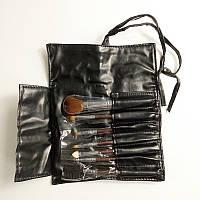 Набор макияжных кистей в черном чехле