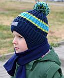 Детская зимняя шапка для мальчика, фото 4