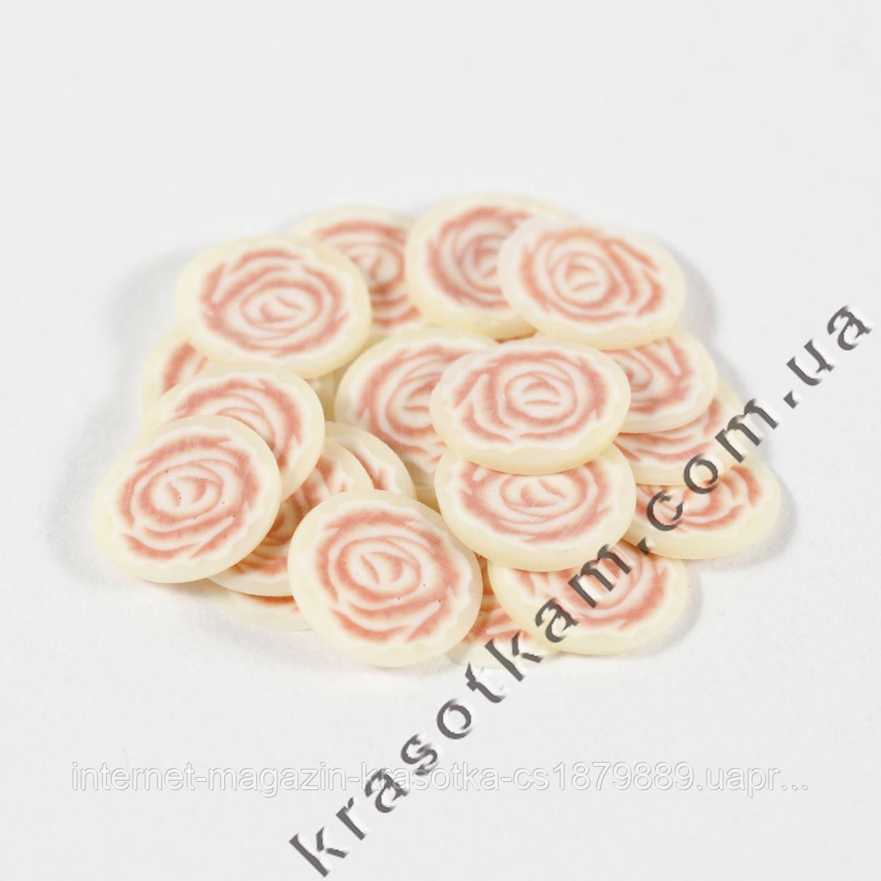 Фимо роза розовая 20шт.