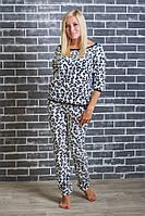 Пижама женская рукав 3/4  леопардовая, фото 1
