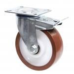 Колеса поворотные из полиуретана Norma с крепеж.панелью,с ролик.подш.Ø80,100,125,150,200,250мм