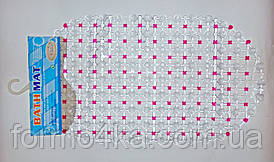 """Антиковзаючий килимок у ванну 67х37см """"точка"""""""