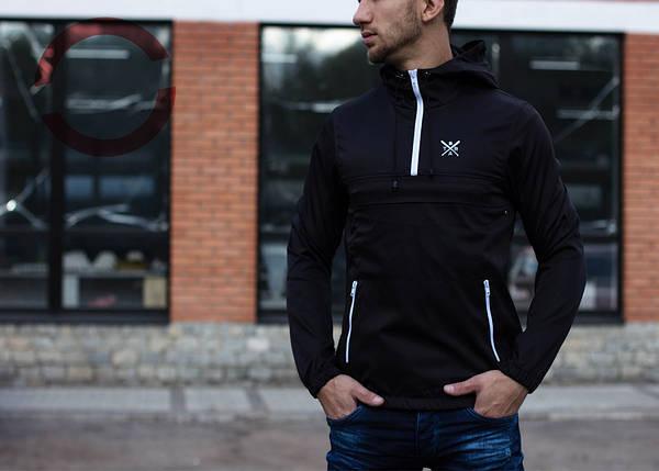 Анорак Brat черный, куртка мужская, фото 2