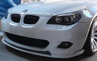 Сплиттер BMW E60 M Sport Paket элерон тюнинг переднего бампера (стекловолокно)