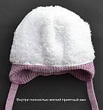 Утепленная зимняя детская шапка для девочек , фото 5