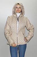 Женская демисезонная куртка  КС-3 бежевая 40-52 размеры