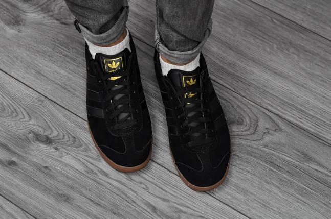 Adidas Hamburg, черные  замша, повседневные , фото 2