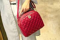 Женская сумка, белая и красная.