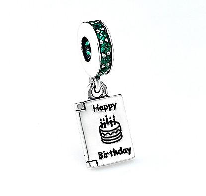Серебряный шарм Пандора Happy Birthday