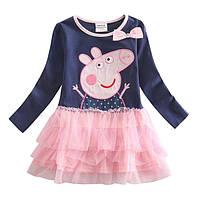 Платье нарядное свинка  Пеппа с фатиновой юбкой