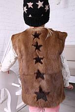 Детская жилетка из меха норки, фото 3