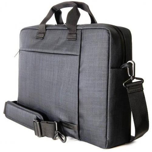 """Компактная мужская сумка для ноутбука 15,6"""" Tucano SVOLTA BAG PC (BLACK) BSVO15 черный"""