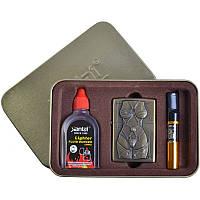 Подарочный набор SEXY 3в1 Зажигалка, бензин, мундштук