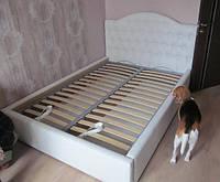 """Двухспальная кровать """"Магнолия"""" с красивым мягким изголовьем с пуговицами купить в Украине"""