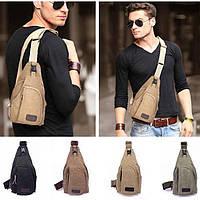 Тренд - молодёжная мужская сумка слинг на грудь